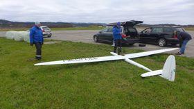 Her har norske Kitemills 30 kW kite vært ute til testflyvning på Lista.