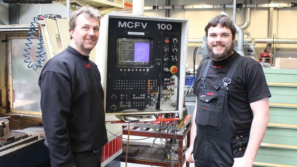 Flemming Næsager (til venstre) og Lars Fangel Plumhoff vil være ansvarlig for framveksten av Norge. Sammen har de 30 års erfaring i CNC-løsninger. Foto: PR