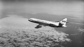 CARAVELLE: En av SAS' Caraveller i luften. Bildet er tatt på 1960-tallet..