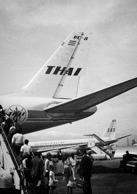 DC-8: Mange SAS-flygere fløy noen år for Thai Airways, blant annet maskinen DC-8.