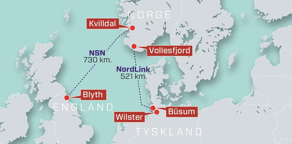 Statnett bygger strømkabler til både Tyskland og England, som skal settes i drift i henholdsvis 2020 og 2021.