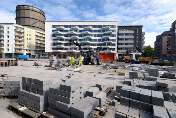 Byggeplass: Bydelen Norra Djurgårdsstaden som fortsatt er under bygging, omtales som Sveriges mest spennende urbane prosjekt.