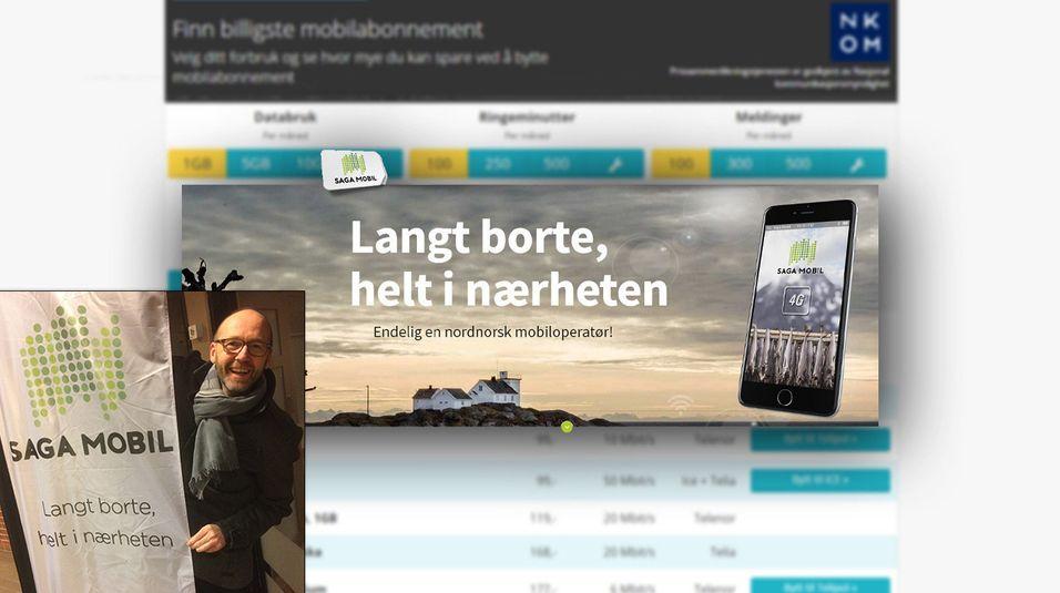 Daglig leder i Saga Mobil, Knut-Bjørnar Braathen setter sin lit til at lokal tilstedeværelse betyr vel så mye som pris for kundene deres.