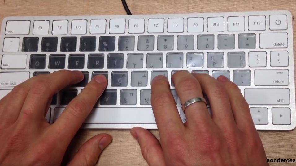 Slik ser Sonders tastaturer ut. De er i stand til å endre utseende på et blunk.