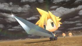 Cloud fra Final Fantasy VII er blant figurene man kan møte på.