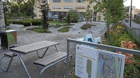 Sentrumsplanen, Kolbotn sentrum. Foto: Yana Stubberudlien Pumptrackbanen, pumptrack, Generasjonsparken, Kolbotn sentrum, sykling. Foto: Yana Stubberudlien.