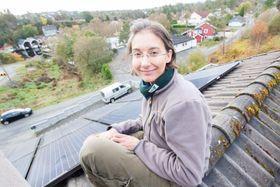 Simona Petroncini driver solcelleselskapet Solbære.