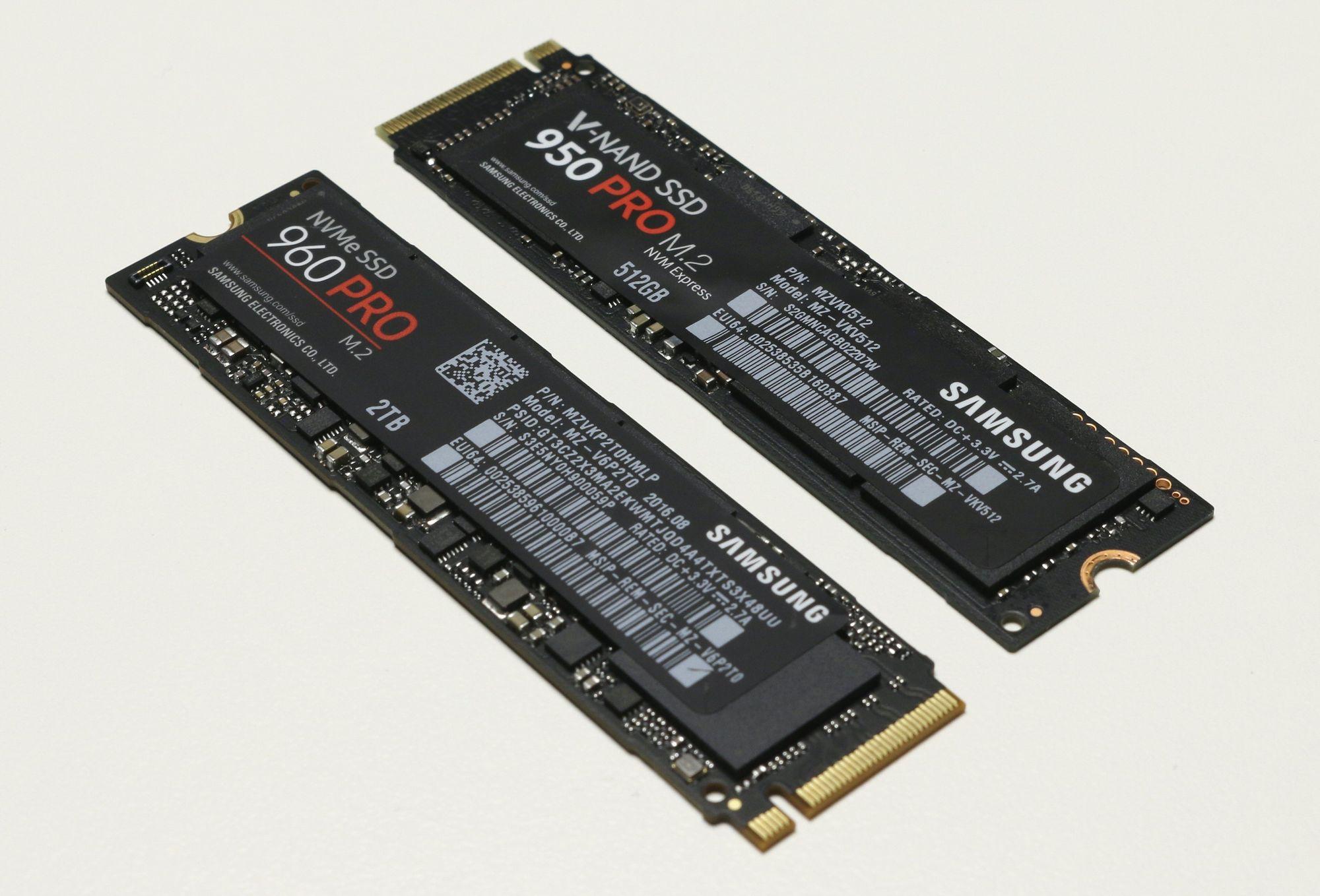 Test Samsung 960 Pro Ssd Nvme M2 512gb Kosmetisk Sett Er Det Ikke Store Forskjellene Fra 950 Til Men