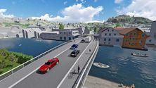 Ny bybru i Flekkefjord er ute på anbud
