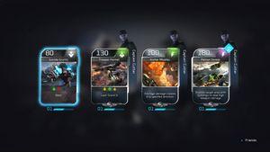Etterhvert som du fullfører kamper kan du vinne nye kort.