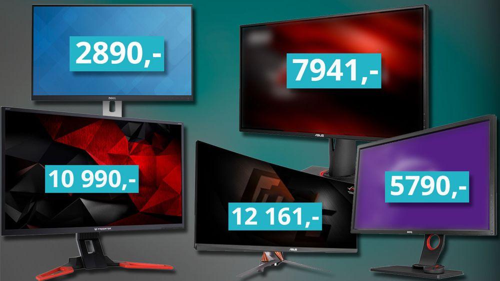 ANBEFALING: Dette er våre PC-skjerm-anbefalinger