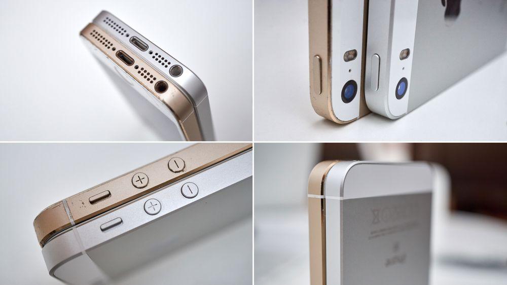 aForskjellene mellom iPhone 5S og SE er minimale.