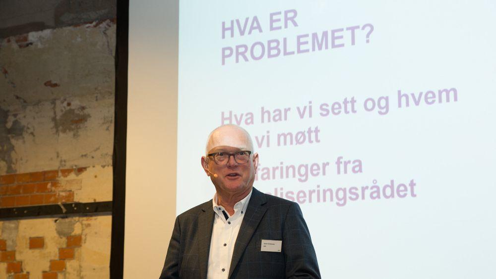 Gode råd er gratis: Digitaliseringsrådets leder Svein Kristensen la fram organets første evalueringsrapport i går.