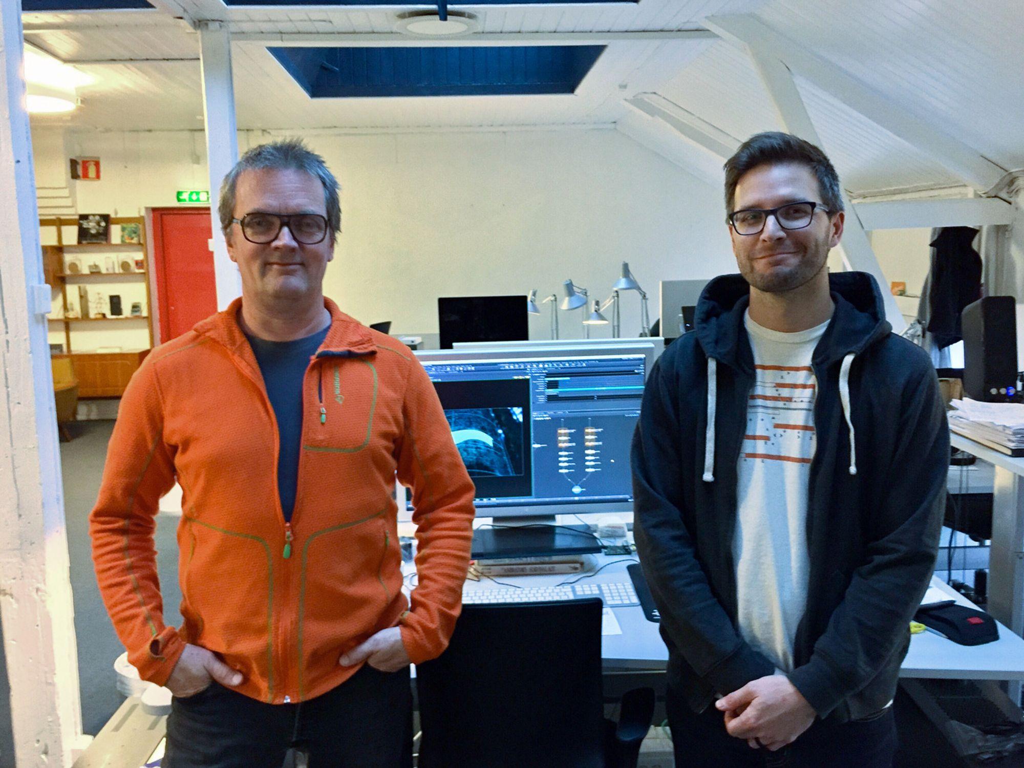 Franck og Bonsak har lang erfaring med dataanimasjon. Det trengs skikkelig maskinvare for å utføre jobben.