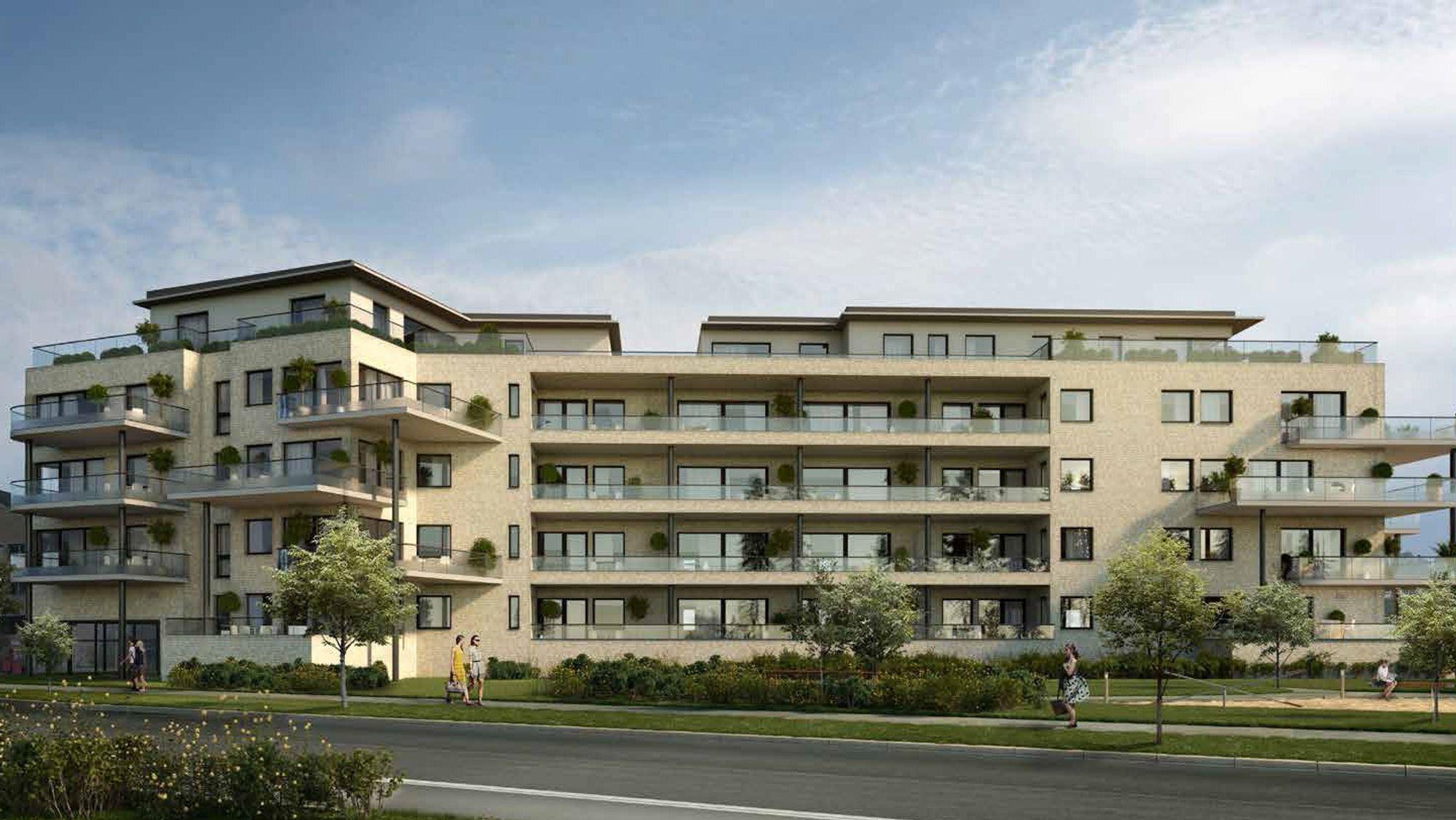 KANTOR TERRASSE: Slik skal de nye leilighetene se ut.