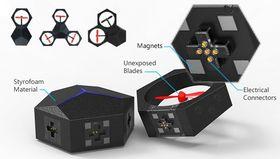 Dronen består av moduler som er enkle å sette sammen.