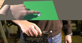 TextureTouch bruker pinner som heves og senkes individuelt for å simulere en 3D-overflate.