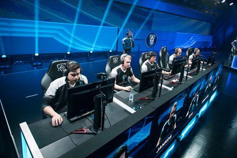 H2k-Gaming under kvartfinalen mot Albus NoX Luna.