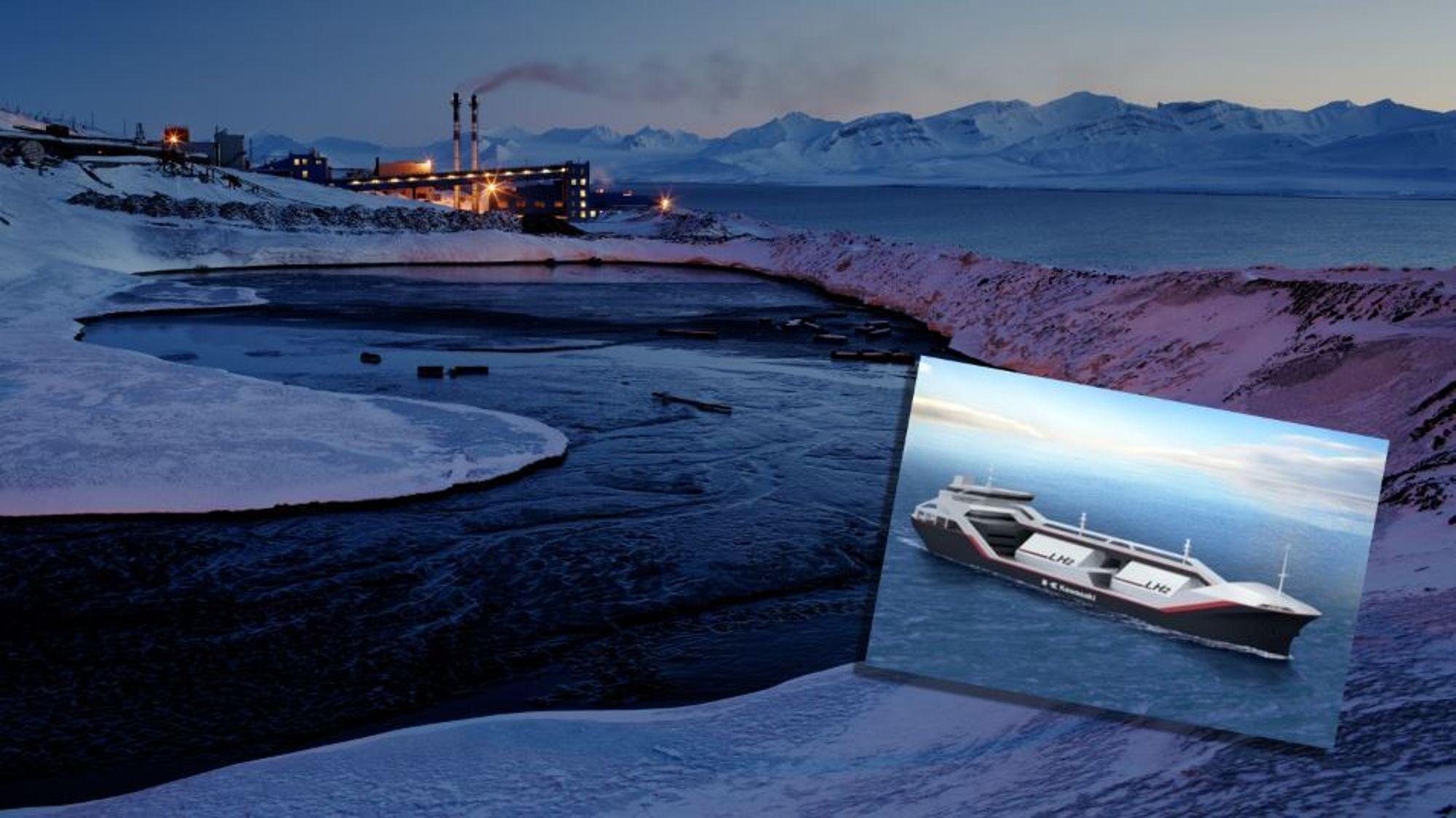 Verdens første skip for frakt av flytende hydrogen er alt under bygging. SINTEF-forskere har vurdert ulike løsninger og funnet at Svalbard, som nå får sin energi fra skittent kull, i framtida kan bli et nullutslippssamfunn med hydrogen skipet inn fra fastlandet.