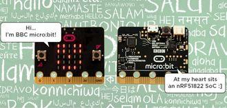 Micro:bit styres av en ARM-basert systembrikke fra norske Nordic Semiconductor.