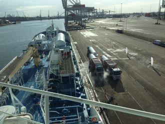 Ternsund fylte LNG i Rotterdam tidligere i år. Tilgangen på naturgass for skip blir bedre og bedre.
