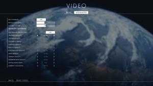 Battlefield 1 har ein omfattande innstillingsmeny på PC.