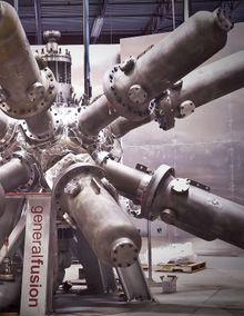 Testrigg: General-Fusion har bygget en testrigg som skal vise om mekanikken holder mål:.