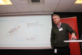 Kjetil Martinsen i DNV GL har ansvar for studien og tegningene av utslippsfire øybåter.