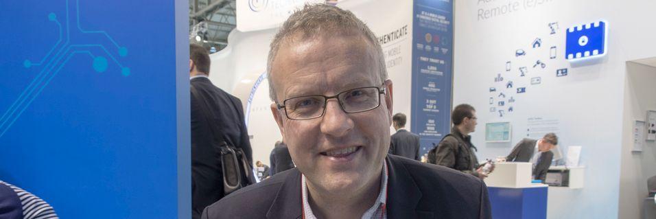 Teknologidirektør og investor i Elliptic Labs, Haakon Bryhni, under Mobile World Congress i Barcelona i februar. Han fortalte den gang om svært stor interesse for teknologien deres internasjonalt.