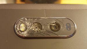 Glasset på LGs nye toppmodell V20 går lett i stykker