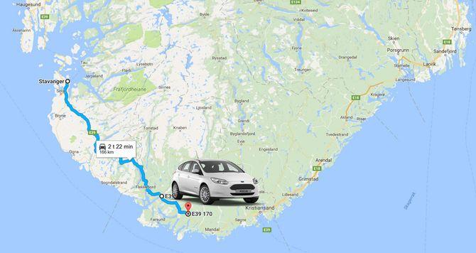 Vi anslår at Fords kommende Focus Electric får en faktisk rekkevidde på omtrent 16 mil.