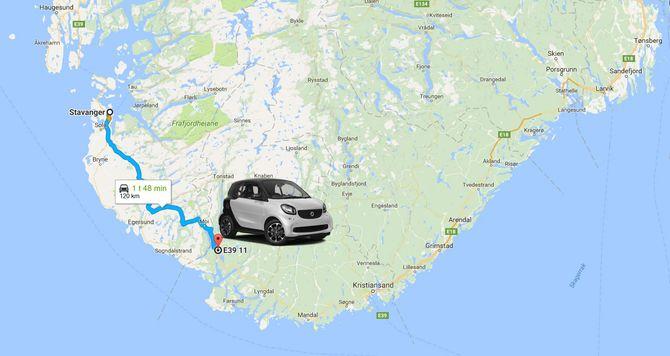 Nye Smart får trolig en praktisk rekkevidde på rundt 12 mil.