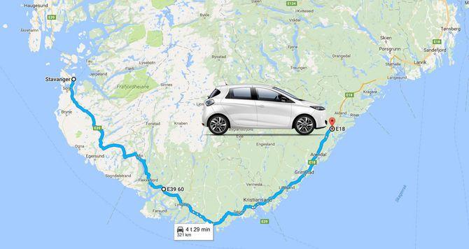 Renault oppgir en praktisk rekkevidde på inntil 321 kilometer for nye Zoe.