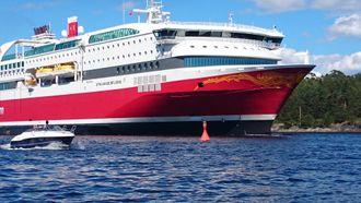 Stavangerfjord går på LNG. Uten støtte fra NOx-fondet, ville Fjordlines bygge Stavangerfjord og Bergensfjord med vanlige tungoljebaserte dieselmotorer. Nå har de Rolls-Royce gassmotorer fra Bergen.