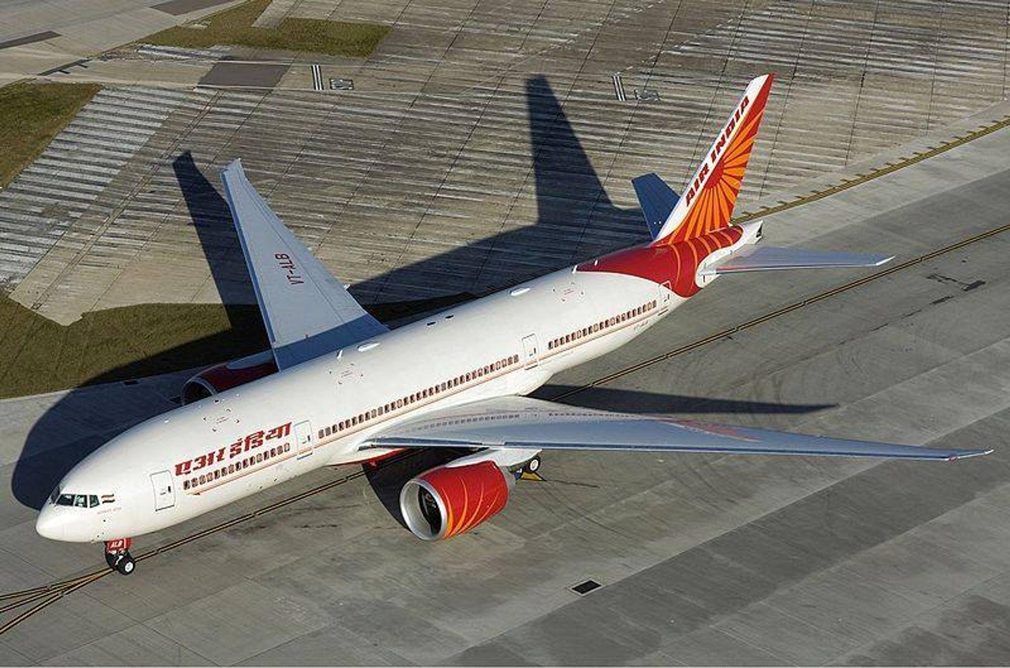 B777-200LR-flyet som fløy stillehavsruta fra Delhi til San Francisco 15-16. oktober.