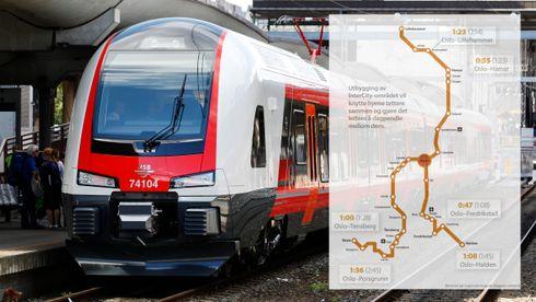 Intercity-budsjett kan bli halvert: – Vi risikerer at hele planleggingen stopper opp