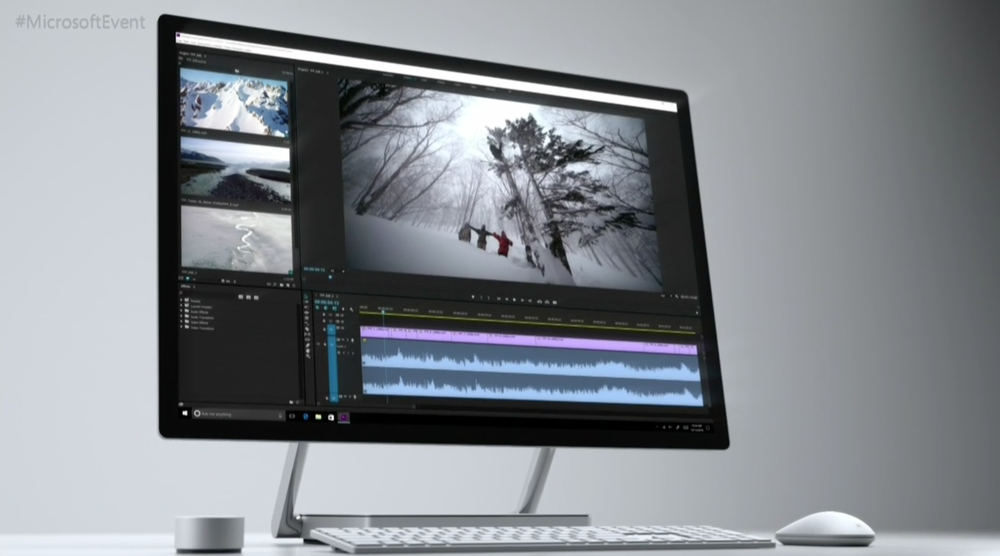 Surface Studio med  Surface Dial.