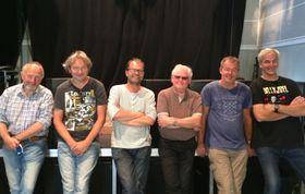 GLADE GUTTER: Kølaband er klare til å gi rockefoten inspirasjon under rockeklubbens jubileum.