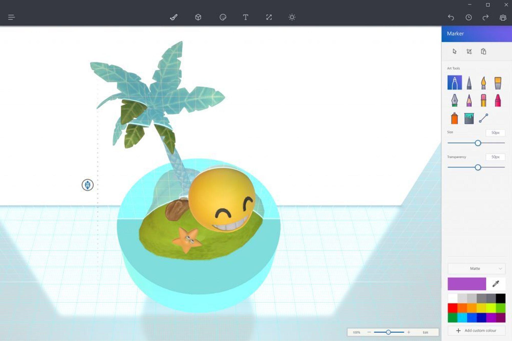 3D-støtte i Paint-applikasjonen er blant nyhetene som kommer til Windows 10 til våren.