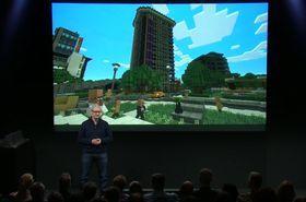 En av nyhetene Apple var svært raskt innom: kjempehitten Minecraft blir tilgjengelig for Apple TV i løpet av året.