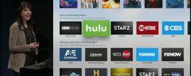 Selv om du bruker en mengde apper på Apple TV-en din organiseres alt innholdet ett sted.