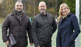 SAMFUNNSENGASJERTE: Fahim A. Nael, eier av Driving, Trond Knutsen i Boligbyggelaget USBL og Ulla J. Gundersen, i Bolig & Eiendomsutvikling, er engasjerte sponsorer.