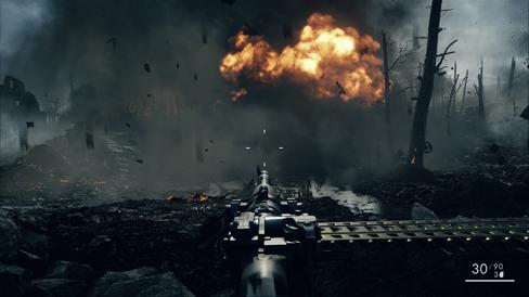 Mange små og store eksplosjoner.