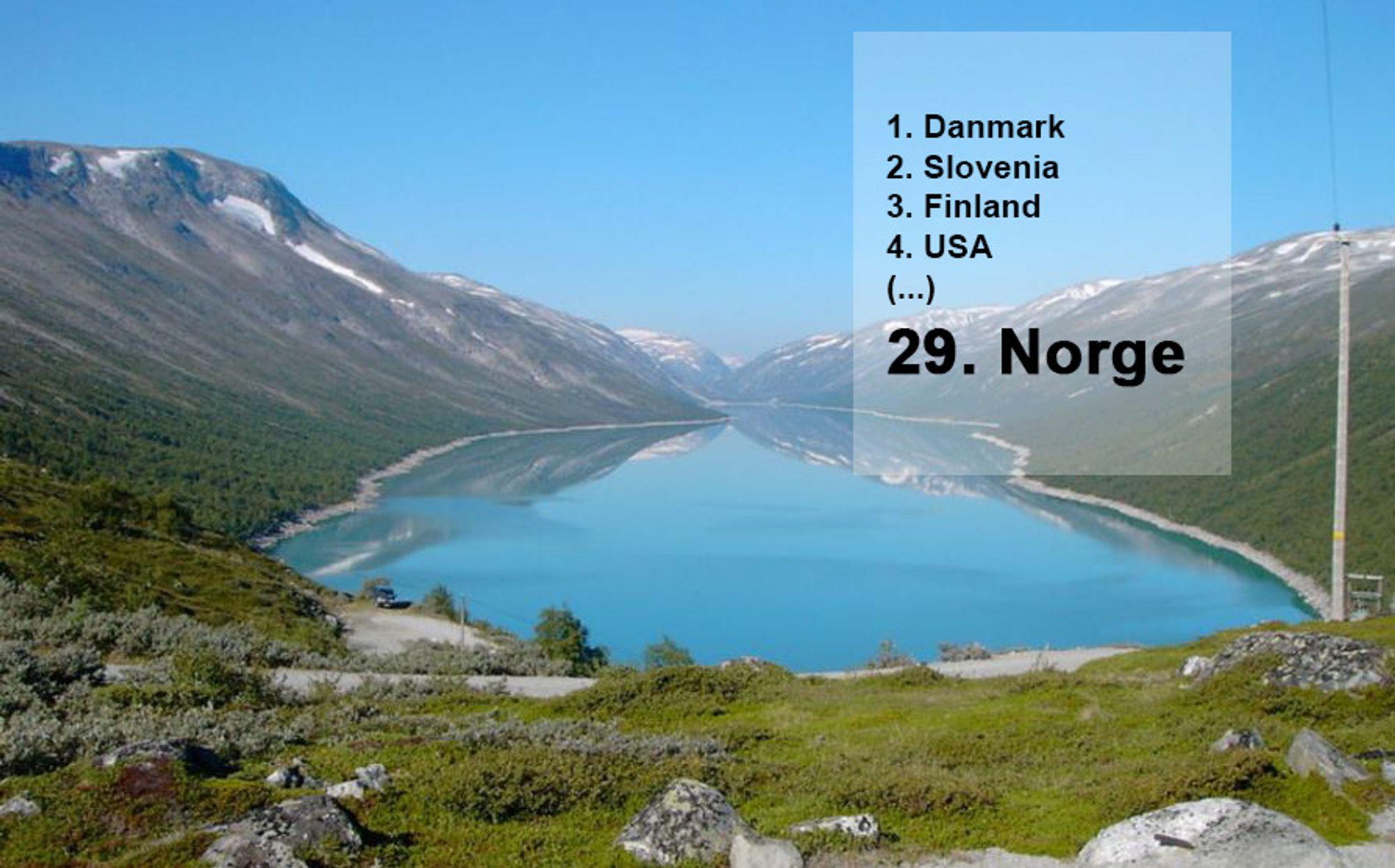 Vannkraft står for rundt 98 prosent av den norske elektrisitetsproduksjonen. Den store vannkraftandelen bekymrer WEC. Bildet viser Øvre Otta vannmagasin.