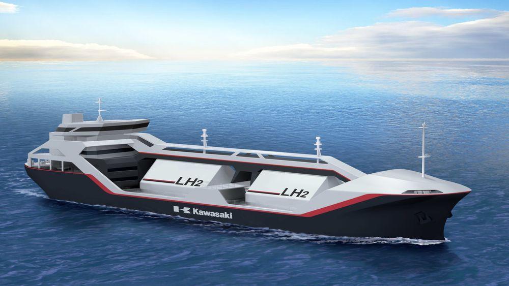 Renere energiformer må tas i bruk Verens første skip for frakt av flytende hydrogen er under bygging.