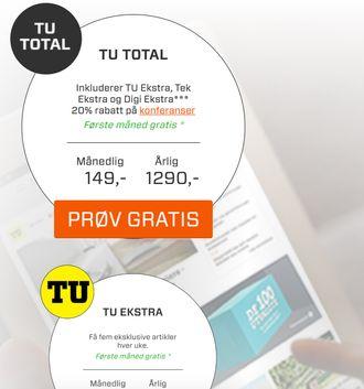 Med et TU Total-abonnement får du tilgang til alle Ekstra-sakene fra både digi.no, TU.no og Tek.no.