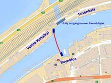 Den autonome kanalfergen skal krysse kanalen fra Ravnkloa til Vestre Kanalkai i Trondheim.
