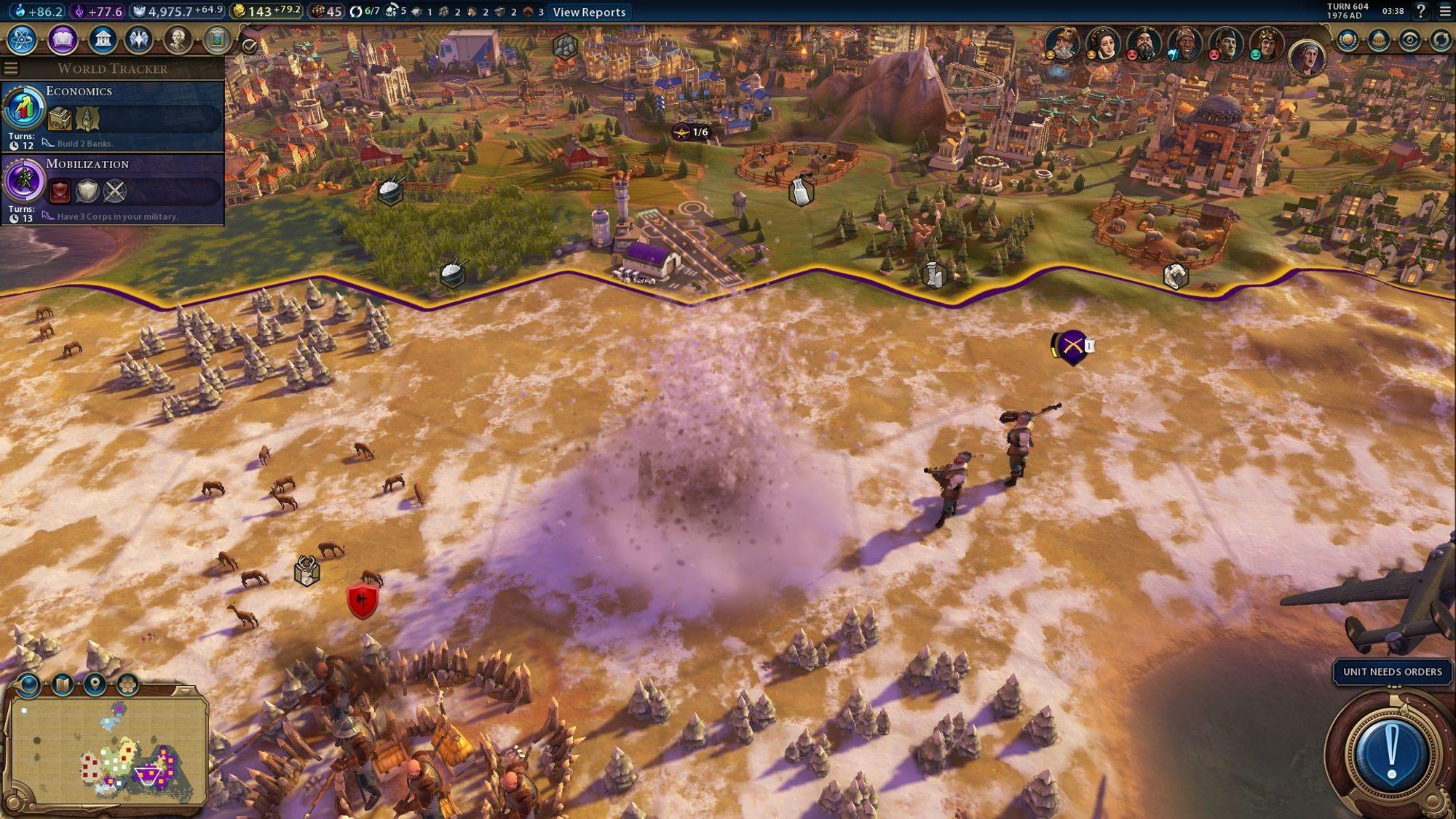 Død over barbarene! ... Selv om bombefly er litt overkill mot en speider med stokk.