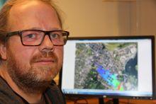 Regnemester: Kjernefysiker Thomas Vik ved FFI har ledet prosjektet med å beregne fiktive gassutslipp fra Borregaard.