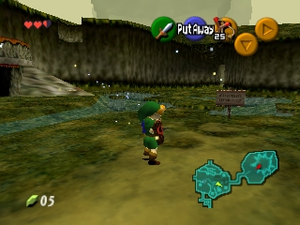 Slik så The Legend of Zelda: Ocarina of Time ut på Nintendo 64.
